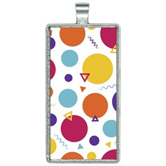Background Polka Dot Rectangle Necklace