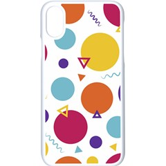 Background Polka Dot iPhone XS Seamless Case (White)