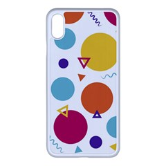 Background Polka Dot iPhone XS Max Seamless Case (White)
