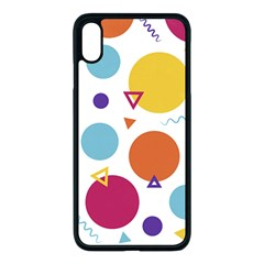 Background Polka Dot iPhone XS Max Seamless Case (Black)