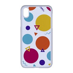 Background Polka Dot iPhone XR Seamless Case (White)