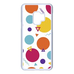 Background Polka Dot Samsung Galaxy S9 Seamless Case(White)