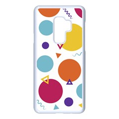 Background Polka Dot Samsung Galaxy S9 Plus Seamless Case(White)