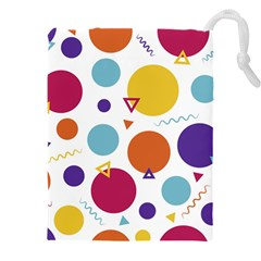 Background Polka Dot Drawstring Pouch (XXXL)