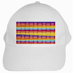 Background Line Rainbow White Cap by HermanTelo