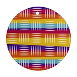 Background Line Rainbow Ornament (Round) Front