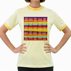Background Line Rainbow Women s Fitted Ringer T-Shirt