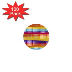 Background Line Rainbow 1  Mini Buttons (100 pack)