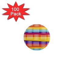 Background Line Rainbow 1  Mini Magnets (100 pack)