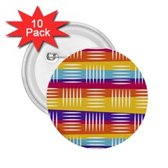 Background Line Rainbow 2.25  Buttons (10 pack)