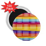 Background Line Rainbow 2.25  Magnets (100 pack)  Front