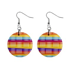 Background Line Rainbow Mini Button Earrings