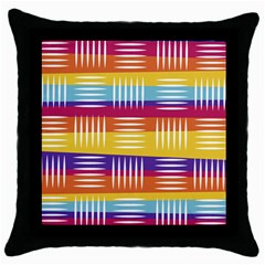 Background Line Rainbow Throw Pillow Case (Black)
