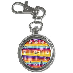 Background Line Rainbow Key Chain Watches