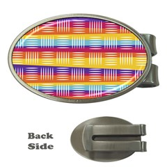 Background Line Rainbow Money Clips (Oval)
