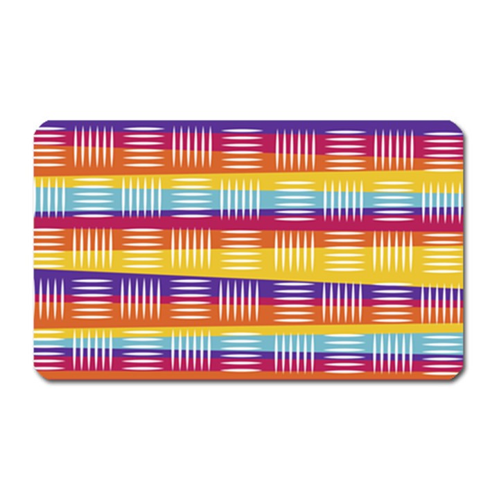 Background Line Rainbow Magnet (Rectangular)