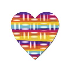Background Line Rainbow Heart Magnet