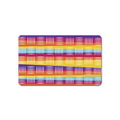 Background Line Rainbow Magnet (Name Card)