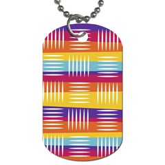 Background Line Rainbow Dog Tag (One Side)