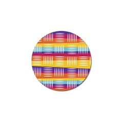 Background Line Rainbow Golf Ball Marker (4 pack)