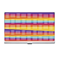 Background Line Rainbow Business Card Holder