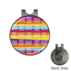 Background Line Rainbow Hat Clips with Golf Markers