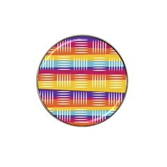 Background Line Rainbow Hat Clip Ball Marker (4 pack)