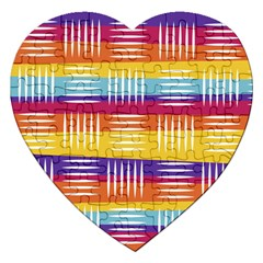 Background Line Rainbow Jigsaw Puzzle (Heart)