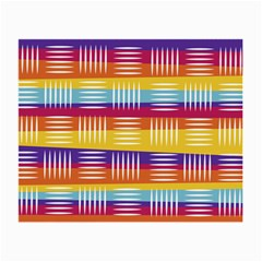 Background Line Rainbow Small Glasses Cloth