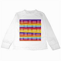 Background Line Rainbow Kids Long Sleeve T-Shirts