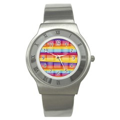 Background Line Rainbow Stainless Steel Watch