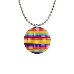 Background Line Rainbow 1  Button Necklace