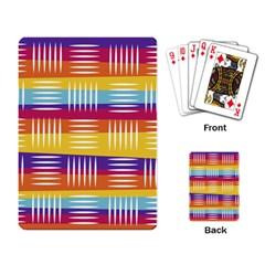 Background Line Rainbow Playing Cards Single Design