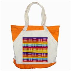 Background Line Rainbow Accent Tote Bag