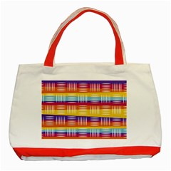 Background Line Rainbow Classic Tote Bag (Red)