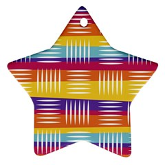 Background Line Rainbow Star Ornament (Two Sides)