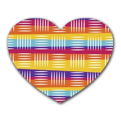 Background Line Rainbow Heart Mousepads