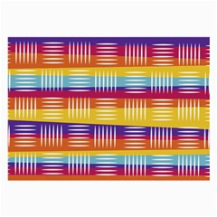 Background Line Rainbow Large Glasses Cloth