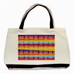 Background Line Rainbow Basic Tote Bag (Two Sides)