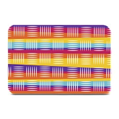 Background Line Rainbow Plate Mats