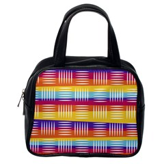 Background Line Rainbow Classic Handbag (one Side) by HermanTelo