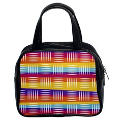 Background Line Rainbow Classic Handbag (Two Sides)