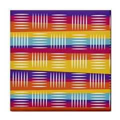 Background Line Rainbow Face Towel