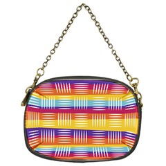 Background Line Rainbow Chain Purse (One Side)