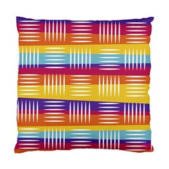Background Line Rainbow Standard Cushion Case (Two Sides)