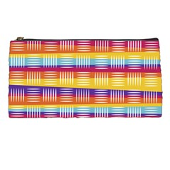 Background Line Rainbow Pencil Cases