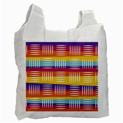 Background Line Rainbow Recycle Bag (One Side)