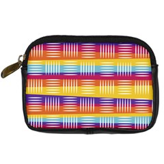 Background Line Rainbow Digital Camera Leather Case