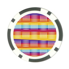 Background Line Rainbow Poker Chip Card Guard (10 pack)