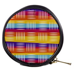 Background Line Rainbow Mini Makeup Bag by HermanTelo